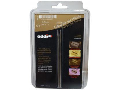 Addi Click Turbo Udskiftelige Rundpinde Messing 13cm 3,50mm US4
