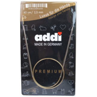 Addi Turbo Rundpinde Messing 40cm 2,50mm / 15.7in US1½