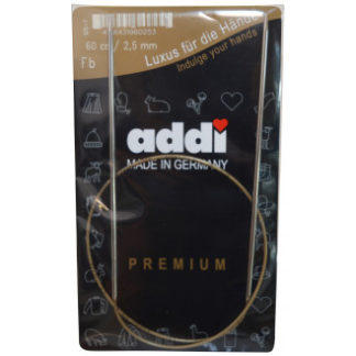 Addi Turbo Rundpinde Messing 60cm 2,50mm / 23.6in US1½