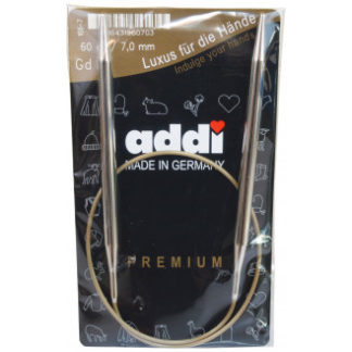 Addi Turbo Rundpinde Messing 60cm 7,00mm / 23.6in US10¾