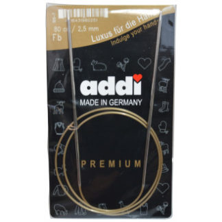 Addi Turbo Rundpinde Messing 80cm 2,50mm / 31.5in US1½