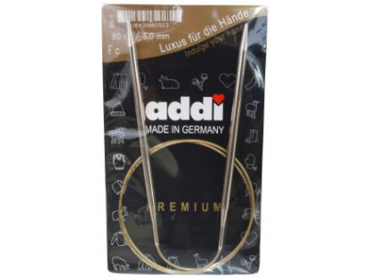 Addi Turbo Rundpinde Messing 80cm 5,00mm / 31.5in US8