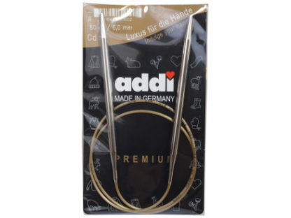Addi Turbo Rundpinde Messing 80cm 6,00mm / 31.5in US10