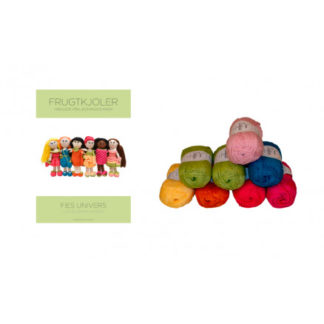 Bogen Hæklede påklædningsdukker - Frugtkjoler + Garnpakke til alle ops