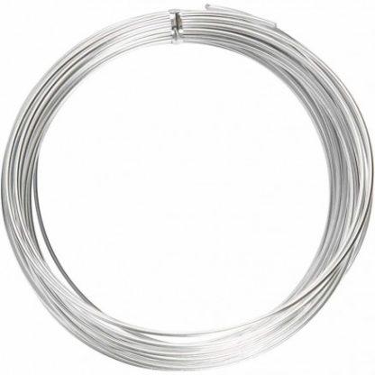 Bonzaitråd / Alu wire Sølv 2mm 10m