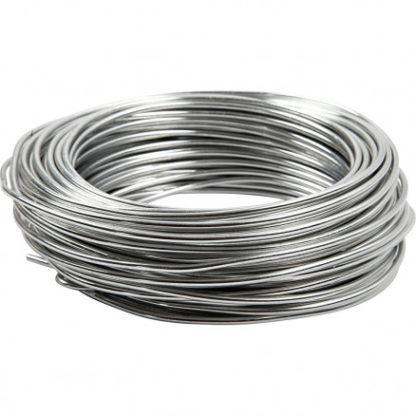 Bonzaitråd, tykkelse 3 mm, sølv, rund, 29m