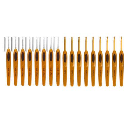 Clover Soft Touch Hæklenålesæt Plastik 13,5cm 0,5-6mm 17 størrelser