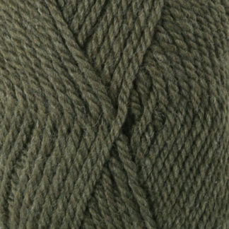 Drops Alaska Garn Unicolor 51 Oliven Meleret
