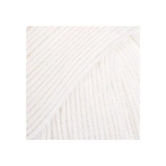 Drops Baby Merino Garn Unicolor 01 Hvid