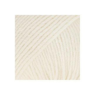 Drops Cotton Merino Garn Unicolor 01 Natur