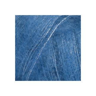 Drops Kid-Silk Garn Unicolor 21 Koboltblå
