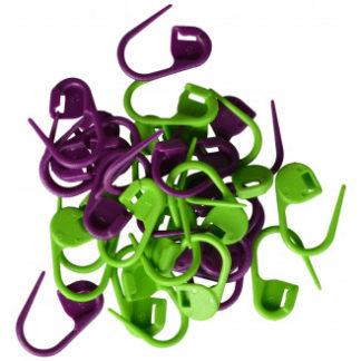 Drops Maskemarkører 30 stk. i grøn og lilla 2 cm