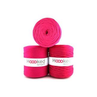 Hoooked Zpagetti Stofgarn Unicolor 4 Pink Nuancer 1 stk.