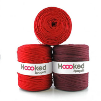 Hoooked Zpagetti Stofgarn Unicolor 51 Bordeaux Nuancer 1 stk.
