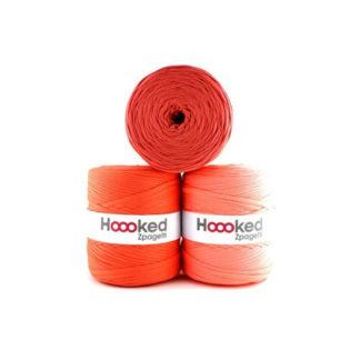 Hoooked Zpagetti Stofgarn Unicolor 9 Orange Nuancer 1 stk.