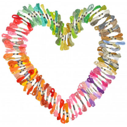 Infinity Hearts Broderigarn / Broderitråd 100 Ass. farver