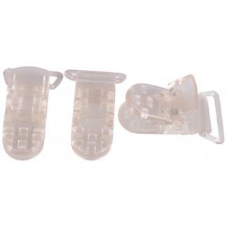 Infinity Hearts Seleclips Plastik Transparent 20mm - 3 stk