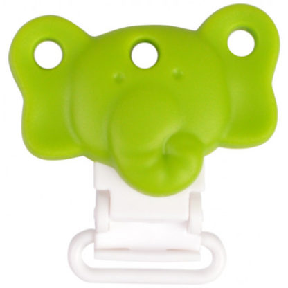 Infinity Hearts Seleclips Silikone Elefant Grøn 4,5x3cm - 1 stk