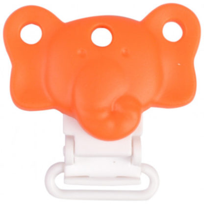 Infinity Hearts Seleclips Silikone Elefant Orange 4,5x3cm - 1 stk