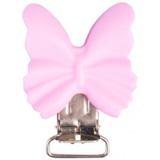 Infinity Hearts Seleclips Silikone Sommerfugl Rosa 3,5x3,8cm - 1 stk