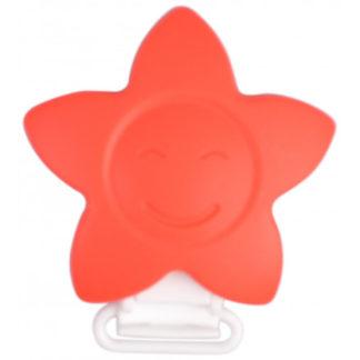 Infinity Hearts Seleclips Silikone Stjerne Rød 5x5cm - 1 stk