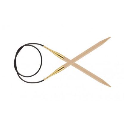 KnitPro Basix Birch Rundpinde Birk 100cm 6,00mm / 39.4in US10