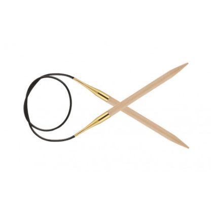 KnitPro Basix Birch Rundpinde Birk 60cm 6,50mm / 23.6in US10½