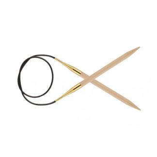 KnitPro Basix Birch Rundpinde Birk 80cm 5,00mm / 31.5in US8