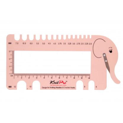KnitPro Hæklenålemåler & Strikkepindemåler Elefant Rosa