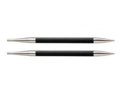 KnitPro Karbonz Korte Udskiftelige Rundpinde Kulfiber 9cm 3,25mm US3