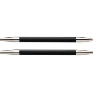 KnitPro Karbonz Korte Udskiftelige Rundpinde Kulfiber 9cm 4,50mm US7