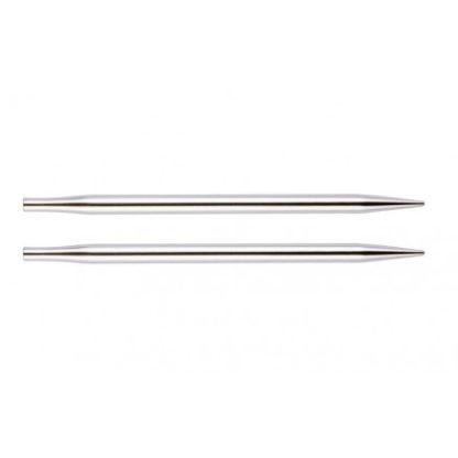 KnitPro Nova Metal Korte Udskiftelige Rundpinde Messing 9cm 6,00mm US1
