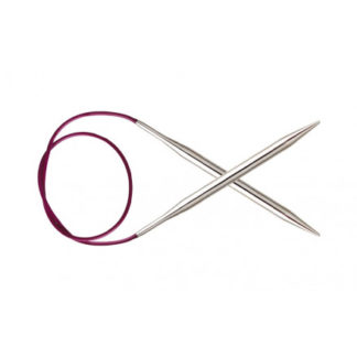 KnitPro Nova Metal Rundpinde Messing 120cm 10,00mm / 47.2in US15