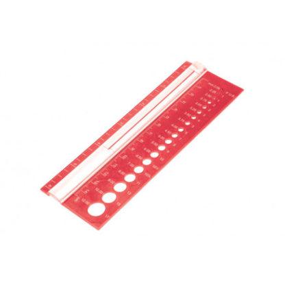 KnitPro Strikkepindemåler Rød 2-12mm (0-17 US)
