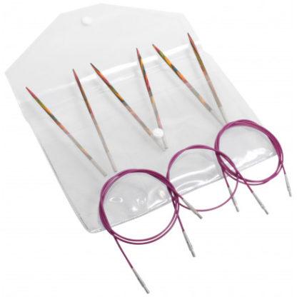 KnitPro Symfonie Begyndersæt Udskiftelige Rundpinde str. 3-4 mm 3 læng