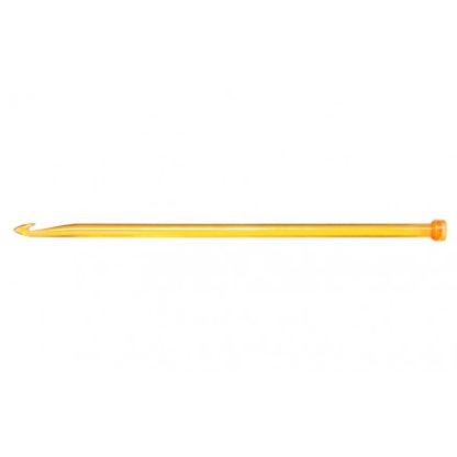 KnitPro Trendz Enkelt Hæklenål Akryl 30cm 10,00mm Orange til Tunesisk