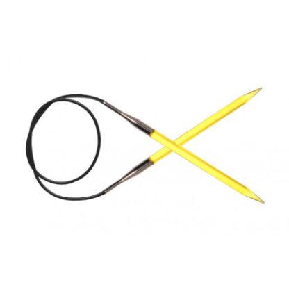KnitPro Trendz Rundpinde Akryl 100cm 6,00mm / 39.4in US10 Yellow