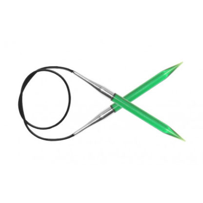 KnitPro Trendz Rundpinde Akryl 60cm 9,00mm / 23.6in US13 Green