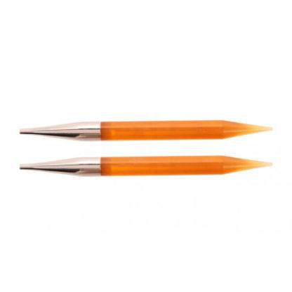 KnitPro Trendz Udskiftelige Rundpinde Akryl 13cm 10,00mm US15 Orange