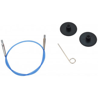 KnitPro Wire / Kabel til Udskiftelige Rundpinde 28cm (Bliver 50cm inkl
