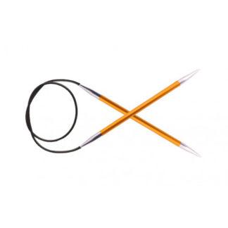 KnitPro Zing Rundpinde Aluminium 100cm 2,25mm / 39.4in US1 Amber