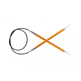 KnitPro Zing Rundpinde Aluminium 120cm 2,25mm / 47.2in US1 Amber