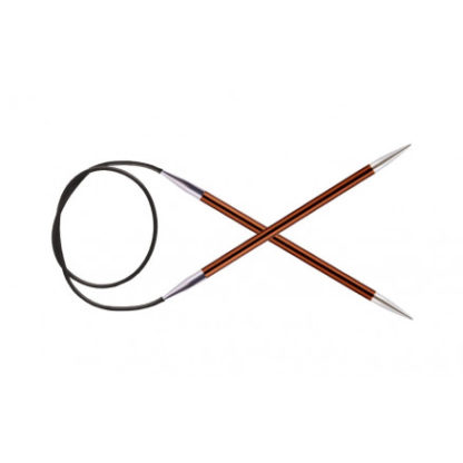 KnitPro Zing Rundpinde Aluminium 60cm 5,50mm / 23.6in US9 Sienna