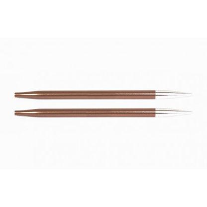 KnitPro Zing Udskiftelige Rundpinde Aluminium 9cm 5,50mm / US9 Sienna