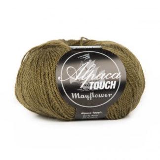 Mayflower Alpaca Touch Garn Unicolor 08 Mørk Oliven