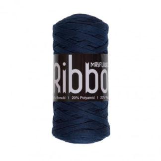 Mayflower Ribbon Stofgarn Unicolor 120 Marineblå