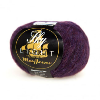 Mayflower Sky Light Garn Mix 157 Aubergine Melange