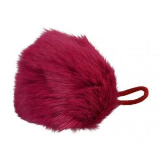 Pompon Kvast Kaninhår Pink 90 mm