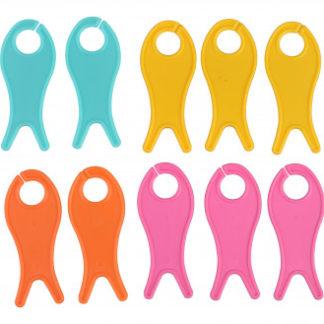 Pony Garnvindsler Små Fisk Ass. farver 6,2x2,5cm - 10 stk