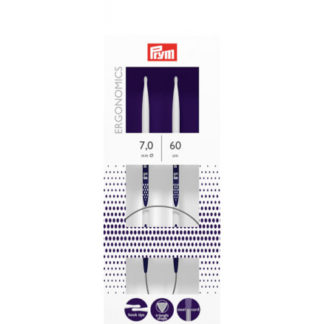 Prym Ergonomics Rundpinde Plast 60cm 7,00mm / 23.6in US10¾